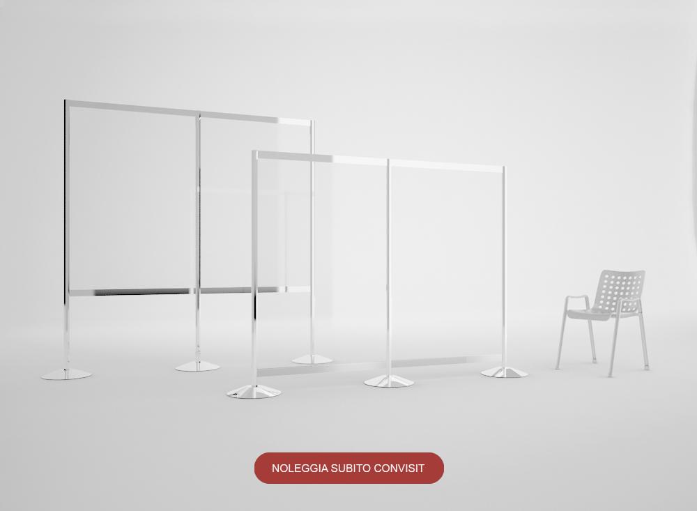 CONVISIT - Pannello divisorio elegante in PVC e alluminio
